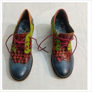 Socofy Women's Oxford Heel Shoe
